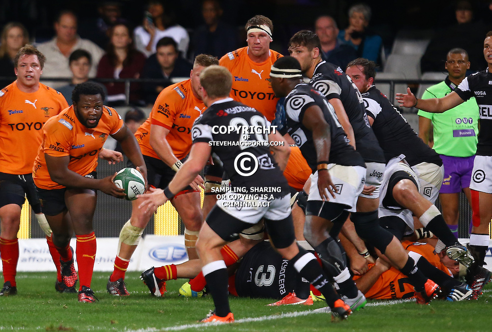 DURBAN, SOUTH AFRICA - SEPTEMBER 10: Ox Nche of the Toyota Free State Cheetahs during the Currie Cup match between the Cell C Sharks and Toyota Cheetahs at Growthpoint Kings Park on September 10, 2016 in Durban, South Africa. (Photo by Steve Haag/Gallo Images)