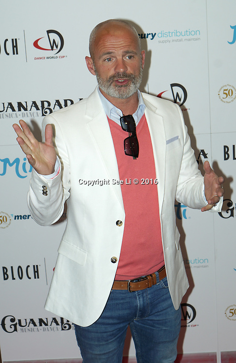 London,England,UK : 28th April 2016 : Julian Bennett attend the Kimberly Wyatt launches the 2016 annual BLOCH Dance World Cup at BLOCH, 35 Drury Lane, Covent Garden, London. Photo by See Li