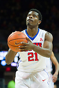 DALLAS, TX - DECEMBER 29: Ben Emelogu #21 of the SMU Mustangs shoots a free-throw against the Midwestern State Mustangs on December 29, 2014 at Moody Coliseum in Dallas, Texas.  (Photo by Cooper Neill/Getty Images) *** Local Caption *** Ben Emelogu