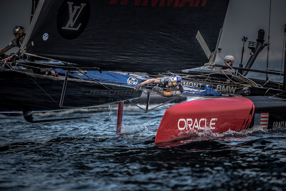 Louis Vuitton America's Cup World Series 2016 Oman.ORACLE TEAM USA. Jimmy Spithill,Tom Slingsby,Kyle Langford,Kinley Fowler,Sam Newton<br /> . Muscat ,The Sultanate of Oman.Image licensed to Jesus Renedo/Lloyd images/Oman Sail