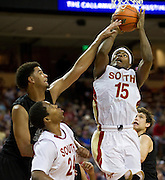 Ben Emelogu (15) of South Grand Prairie shoots the ball against Cibolo Steele during the UIL Conference 5A semifinals at the Frank Erwin Center in Austin on Friday, March 8, 2013. (Cooper Neill/The Dallas Morning News)