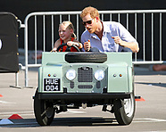 Prince Harry Rides Mini-Landrover