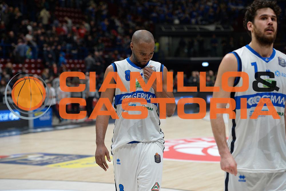 Landry Marcus<br /> Olimpia EA7 Emporio Armani Milano vs Basket Leonessa Brescia<br /> Lega A 2016/2017<br /> Milano 12/02/2017<br /> Foto Ciamillo-Castoria