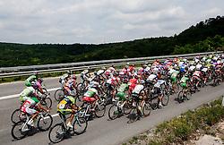 Peloton at Bertoki during 2nd Stage (189,6 km) at 18th Tour de Slovenie 2011, on June 17, 2011, in Ljubljana, Slovenia. (Photo by Vid Ponikvar / Sportida)