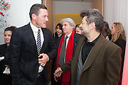 LUKE EVANS; TOM CONTI; ANDY SERKIS, English National Ballet's celebrates their Christmas season at the London Coliseum,  St Martins Lane hotel. London. 13 December 2012.