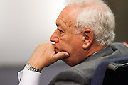 Jose Maria Margallo, foreign Office minister in press conference of Hispano-Italian meeting