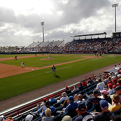 March 4, 2011; Viera, FL, USA; A general view during a spring training exhibition game between the Atlanta Braves and the Washington Nationals at Space Coast Stadium.  Mandatory Credit: Derick E. Hingle