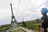 Paris: Smash Perrier Zip Line from Eiffel tower - 6 June 2017