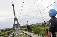 Paris: Smash Perrier Zip Line from Eiffel tower - 6 June 2017