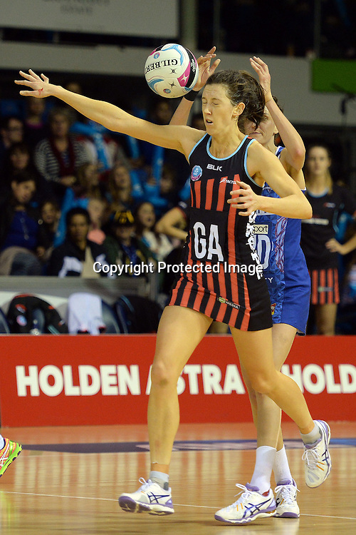 Mainland Tactix Bailey Mes reacts to a shoot past her during the 2016 ANZ Championship, Northern Mystics vs Mainland Tactix, The Trusts Arena, Auckland, New Zealand. Saturday 02 July 2016. Photo: Raghavan Venugopal / www.photosport.nz