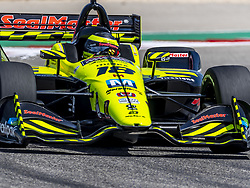 March 22, 2019 - Austin, Texas, U.S. - SEBASTIEN BOURDAIS (18) of France goes through the turns during practice for the INDYCAR Classic at Circuit Of The Americas in Austin, Texas. (Credit Image: © Walter G Arce Sr Asp Inc/ASP)