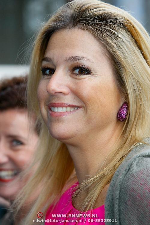 NLD/Den Haag/20110118 - Prinses Maxima bezoekt Spots on Jobs in  Den Haag