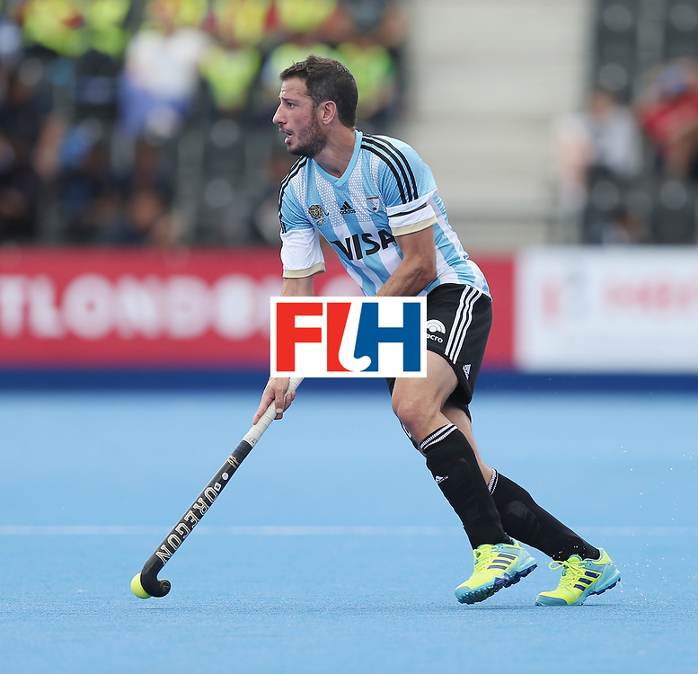 LONDON, ENGLAND - JUNE 15:  Manuel Brunet of Argentina during the Hero Hockey World League Semi Final match between Korea and Argentina at Lee Valley Hockey and Tennis Centre on June 15, 2017 in London, England.  (Photo by Alex Morton/Getty Images)