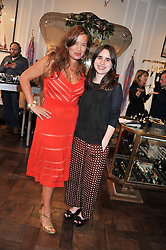 Left to right, JADE JAGGER and her daughter ASSISI JACKSON at the Frocks and Rocks party hosted by Alice Temperley and Jade Jagger at Temperley, Bruton Street, London on 25th April 2013.