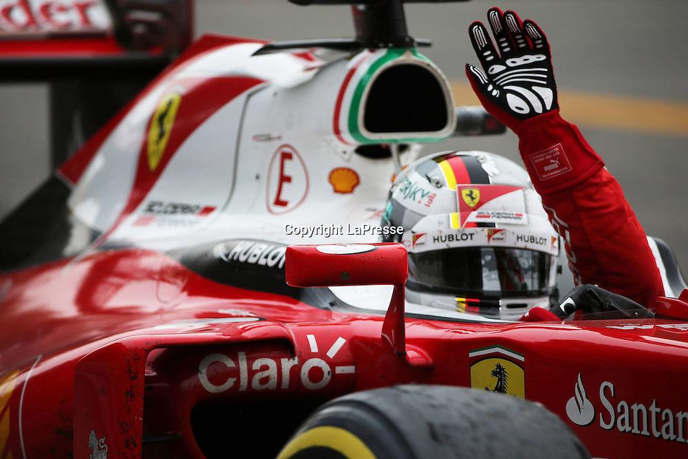 &copy; Photo4 / LaPresse<br /> 04/09/2016 Monza, Italy<br /> Sport <br /> Grand Prix Formula One Italia 2016<br /> In the pic: Sebastian Vettel (GER) Scuderia Ferrari SF16-H