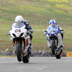 British Superbikes, Knockhill, 16-06-2013<br /> <br /> Aaron Zanotti and Jenny Tinmouth<br /> <br /> (c) David Wardle | StockPix.eu