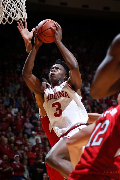 Indiana forward OG Anunoby (3) in action as Nebraska played Indiana in an NCCA college basketball game in Bloomington, Ind., Wednesday, Dec. 28, 2016. (AJ Mast via AP Images)