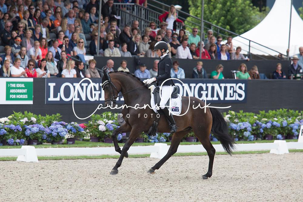 Pearce Simone, AUS, Fine Time<br /> World Championship Young Dressage Horses <br /> Ermelo 2016<br /> &copy; Hippo Foto - Leanjo De Koster<br /> 30/07/16