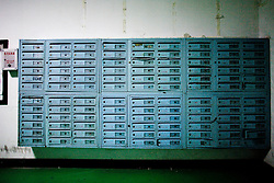 China,Beijing,<br /> Mailboxes in a big building in the city of Beijing.<br /> &copy;Carmen Secanella