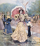 Female Fashion, Paris.  From 'Le Petit Journal', Paris, 16 July 1894.