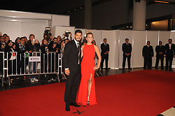 June 30, 2017 - Buenos Aires, Buenos Aires, Argentina - Barcelona F.C. player Luis Suarez and his wife pose at the red carpet prior to Lionel Messi and long time sweetheart Antonella Roccuzzo's wedding party.The ceremony and party had over 250 guests that included his fellow Barcelona F.C. players, pop star Shakira, family and childhood friends. (Credit Image: © Patricio Murphy via ZUMA Wire)