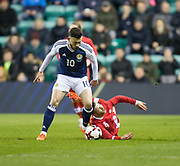 Scotland&rsquo;s Robert Snodgrass and Canada&rsquo;s Marco Bustos  - Scotland v Canada, friendly international at EasterRoad, Edinburgh.Photo: David Young<br /> <br />  - &copy; David Young - www.davidyoungphoto.co.uk - email: davidyoungphoto@gmail.com