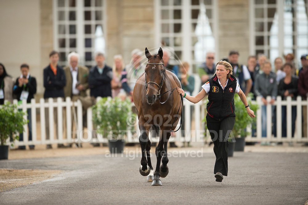 Karin Donckers, (BEL), Fletcha van t Verahof - First Horse Inspection  - Alltech FEI World Equestrian Games&trade; 2014 - Normandy, France.<br /> &copy; Hippo Foto Team - Shannon Brinkman<br /> 25/06/14