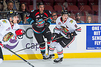 KELOWNA, BC - OCTOBER 20: Cody Glass #8 of the Portland Winterhawks skates against the Kelowna Rockets at Prospera Place on October 20, 2017 in Kelowna, Canada. (Photo by Marissa Baecker/Getty Images)