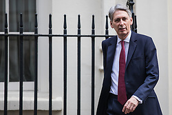 © Licensed to London News Pictures. 07/03/2017. London, UK. The Chancellor of The Exchequer Philip Hammond leaves No 11 Downing Street. Hammond will deliver the budget on Wednesday 8 March 2017. Photo credit: Rob Pinney/LNP