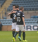 Thomas Konrad congratulates his countryman Luka Tankulic on his fifth goal in four games for Dundee - Dundee v Peterhead, League Cup at Dens Park<br /> <br />  - &copy; David Young - www.davidyoungphoto.co.uk - email: davidyoungphoto@gmail.com