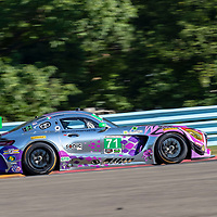 The P1 Motorsports/Sonic Tools Mercedes-AMG GT3 America car practice for the Sahlen's Six Hours At The Glen at Watkins Glen International Raceway in Watkins Glen, New York.
