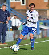 Craig Jones looks tom open the defence during the Sky Bet League 1 match between Bury and Port Vale at Gigg Lane, Bury, England on 19 September 2015. Photo by Mark Pollitt.