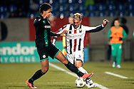 Onderwerp/Subject: Willem II - FC Groningen - Eredivisie<br /> Reklame:  <br /> Club/Team/Country: <br /> Seizoen/Season: 2012/2013<br /> FOTO/PHOTO: Aurelien JOACHIM (R) of Willem II in duel with Virgil VAN DIJK (L) of FC Groningen. (Photo by PICS UNITED)<br /> <br /> Trefwoorden/Keywords: <br /> #04 $94 ±1355238911262<br /> Photo- & Copyrights © PICS UNITED <br /> P.O. Box 7164 - 5605 BE  EINDHOVEN (THE NETHERLANDS) <br /> Phone +31 (0)40 296 28 00 <br /> Fax +31 (0) 40 248 47 43 <br /> http://www.pics-united.com <br /> e-mail : sales@pics-united.com (If you would like to raise any issues regarding any aspects of products / service of PICS UNITED) or <br /> e-mail : sales@pics-united.com   <br /> <br /> ATTENTIE: <br /> Publicatie ook bij aanbieding door derden is slechts toegestaan na verkregen toestemming van Pics United. <br /> VOLLEDIGE NAAMSVERMELDING IS VERPLICHT! (© PICS UNITED/Naam Fotograaf, zie veld 4 van de bestandsinfo 'credits') <br /> ATTENTION:  <br /> © Pics United. Reproduction/publication of this photo by any parties is only permitted after authorisation is sought and obtained from  PICS UNITED- THE NETHERLANDS
