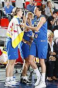 DESCRIZIONE : Valmiera Latvia Lettonia Eurobasket Women 2009 Italia Bielorussia Italy Belarus<br /> GIOCATORE : Laura Macchi Raffaella Masciadri<br /> SQUADRA : Italia Italy<br /> EVENTO : Eurobasket Women 2009 Campionati Europei Donne 2009 <br /> GARA :  Italia Bielorussia Italy Belarus<br /> DATA : 09/06/2009 <br /> CATEGORIA : esultanza<br /> SPORT : Pallacanestro <br /> AUTORE : Agenzia Ciamillo-Castoria/E.Castoria