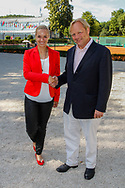 Sabine Lisicki, Werner Ellerkmann (Praesident), Sabine Lisicki Empfang beim LTTC Rot-Weiss Berlin nach Wimbledon-Finale, Berlin, 07.07.2013,
