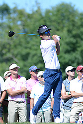 July 8, 2018 - White Sulphur Springs, WV, U.S. - WHITE SULPHUR SPRINGS, WV - JULY 08: Kevin Na hits his tee shot on the par 5 12th hole during the final round of the Military Tribute at the Greenbrier in White Sulphur Springs, WV, on July 8, 2018.(Photo by Brian Bishop/Icon Sportswire) (Credit Image: © Brian Bishop/Icon SMI via ZUMA Press)