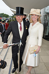 CHARLES GORDON-WATSON and KATE REARDON at the Investec Derby at Epsom Racecourse, Epsom, Surrey on 4th June 2016.
