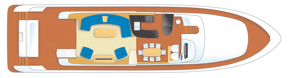 montefino 76 yacht main deck accommodation plan