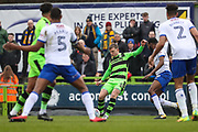 Forest Green Rovers Dayle Grubb(8) crosses the ball during the EFL Sky Bet League 2 match between Forest Green Rovers and Mansfield Town at the New Lawn, Forest Green, United Kingdom on 24 March 2018. Picture by Shane Healey.