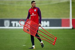 England's Chris Smalling carries training equipment - Mandatory by-line: Matt McNulty/JMP - 29/08/2017 - FOOTBALL - St George's Park National Football Centre - Burton-upon-Trent, England - England Training and Press Conference