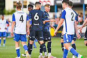 Leeds United midfielder Mateusz Klich (6) and Leeds United midfielder Mateusz Bogusz (7)  after Leeds United midfielder Mateusz Bogusz (7) scored a goal during the Pre-Season Friendly match between Guiseley  and Leeds United at Nethermoor Park, Guiseley, United Kingdom on 11 July 2019.