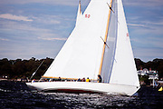 Sonny sailing in the Indian Harbor Classic Yacht Regatta.