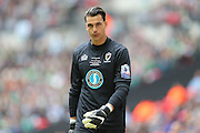 AFC Wimbledon goalkeeper Kelle Roos (29) during the Sky Bet League 2 play off final match between AFC Wimbledon and Plymouth Argyle at Wembley Stadium, London, England on 30 May 2016.