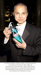 Top shoe designer JIMMY CHOO at a Jimmy Choo Couture Gala Evening in aid of Tommy's Campaign held at The V&A Museum, Cromwell Road, London SW7 on 8th March 2001.