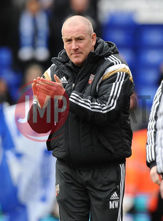 Brentford Manager, Mark Warburton  - Photo mandatory by-line: Joe Meredith/JMP - Mobile: 07966 386802 - 28/02/2015 - SPORT - Football - Birmingham - ST Andrews Stadium - Birmingham City v Brentford - Sky Bet Championship
