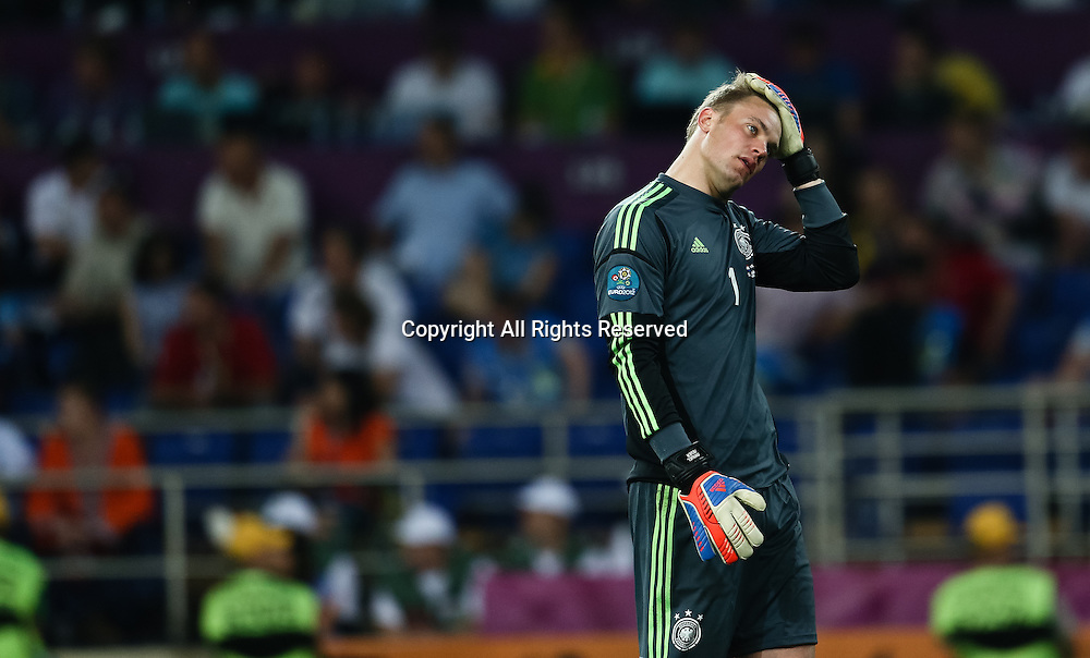 13.06.2012 Ukraine, Kharkiv.  German national team goalkeeper Manuel Neuer in the group stage European Football Championship match between teams of the Netherlands and Germany.