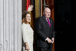 Former King Juan Carlos I of Spain and Ana Pastor attends to 40 Anniversary of Spanish Constitution at Congreso de los Diputados in Madrid, Spain. December 06, 2018. Photo by ALTERPHOTOS/A. Perez Meca/ABACAPRESS.COM