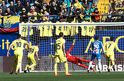 February 3, 2019 - Villarreal, Castellon, Spain - Santiago Cazorla of Villarreal scores a goal during the La Liga match between Villarreal and Espanyol at Estadio de la Ceramica on February 3, 2019 in Vila-real, Spain. (Credit Image: © Maria Jose Segovia/NurPhoto via ZUMA Press)