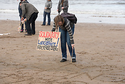 Our Forth event on Portobello beach celebrating the past year of campaigning against fracking and unconventional gas extraction and highlighting the continued campaign towards permanent bans on all forms of unconventional gas extraction.<br /> <br /> &copy; Jon Davey/ EEm