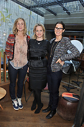 Left to right, NAOMI ROBERTSON, CATRIONA BLAMPIED and BLANCE VAUGHAN at a ladies lunch hosted by Thomasina Miers at her restaurant Wahaca, 19-23 Charlotte Street, London W1 on 17th January 2013.